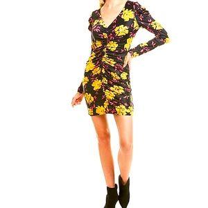 WAYF Ruched Mini Dress